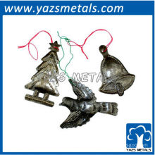 customize Christmas tree metal ornaments