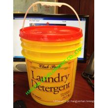 Custom1l 2L, 3L 5L, 7L, 8L, 10L, 12L, 15L, 20L, 25L Plastic Pail / Barrel / Bucket