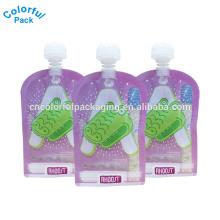 Benutzerdefinierte laminiert Standbodenbeutel Babynahrung Tasche Ziplock wiederverwendbare Getränke Tülle mit niedrigem Preis