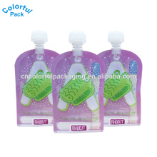 Custom laminated stand up pouches baby food bag ziplock reusable drink spout pouch with low price