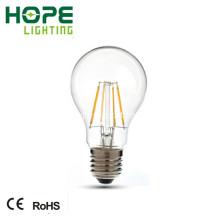 Bulbo del filamento de 360 grados A60 4W 410lm LED