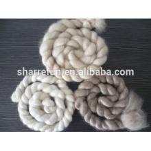 Fabricante de la fábrica de China mongolia 100% puro cashmere tops blanco / gris claro / marrón