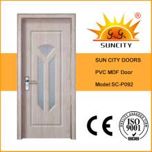 Porte PVC d'intérieur décorative populaire