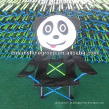 Cadeira dobrável de crianças dos desenhos animados com saco de transporte 210D para camping