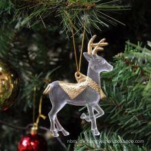 Plastic Glitter bulk buy Christmas decorations