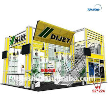 China Exhibition booth supplier customized double deck booth exhibition, exhibition booth design from Detian
