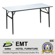 Rectangle Utility Hotel Furniture Banquette pliable Table (EMT-FT605)