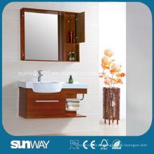 Gabinete de espejo de baño de madera maciza de diseño moderno