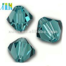 5301 # 8mm Charm Aquamarine Crystal Bicone Beads para hacer joyas
