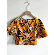 Женская пляжная короткая блузка Одежда