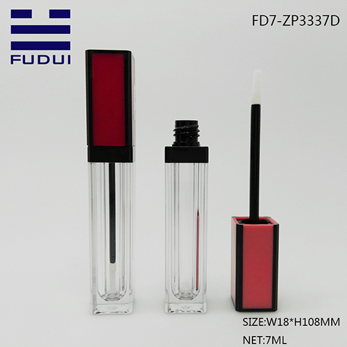 red cap lipgloss tube