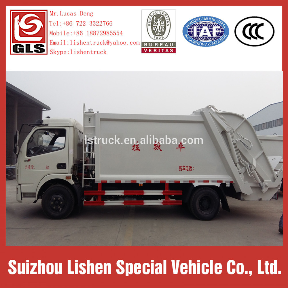 New Dongfeng 4*2 Compression Garbage Truck