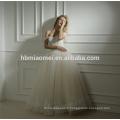 Approvisionnement d'usine fait sur commande fait au printemps nouveau design un mot parole longueur robe de mariée robe de mariée