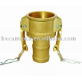 Brass cam and groove quick coupling Type C