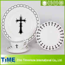 16PC 20PC conjunto de jantar de porcelana, Dinnerware simples design simples Set (616043)