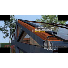 Aluminium frame sound insulation lows Sunroom with Laminated Glass