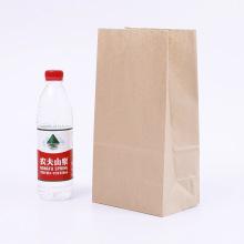 bolsa de papel kraft marrón de grado alimenticio