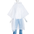 Emergency Milky Color PE Rain Poncho