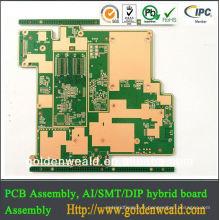 fabrication multicouche de carte PCB / conception / assemblée fabrication de panneau de carte PCB din de rail en plastique