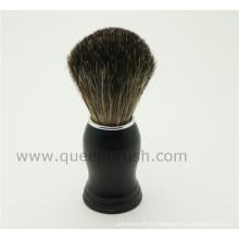 Private Label Black Handle Escova de barbear de cabelo de alta qualidade