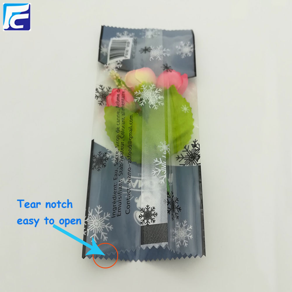 Ice pop bag packaging