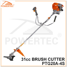Powertec 31cc 4 tempos cortador de escova de gasolina (PTG20A-4S)