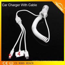 Chargeur de batterie de voiture de design le plus récent pour Iphone / Samsung / HTC / Blackberry