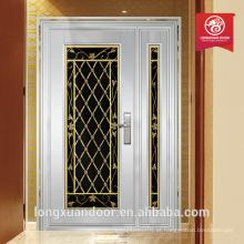 Portas de entrada dupla de luxo portas de aço de alta qualidade portas exteriores usadas à venda