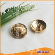 Botón de aleación de zinc y botón de metal y botón de costura de metal BM1640