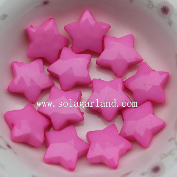 Lots Acrylic Opaque Colors Acrylic Star Beads with Drill Holes