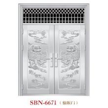 Puerta de acero inoxidable para sol exterior (SBN-6671)