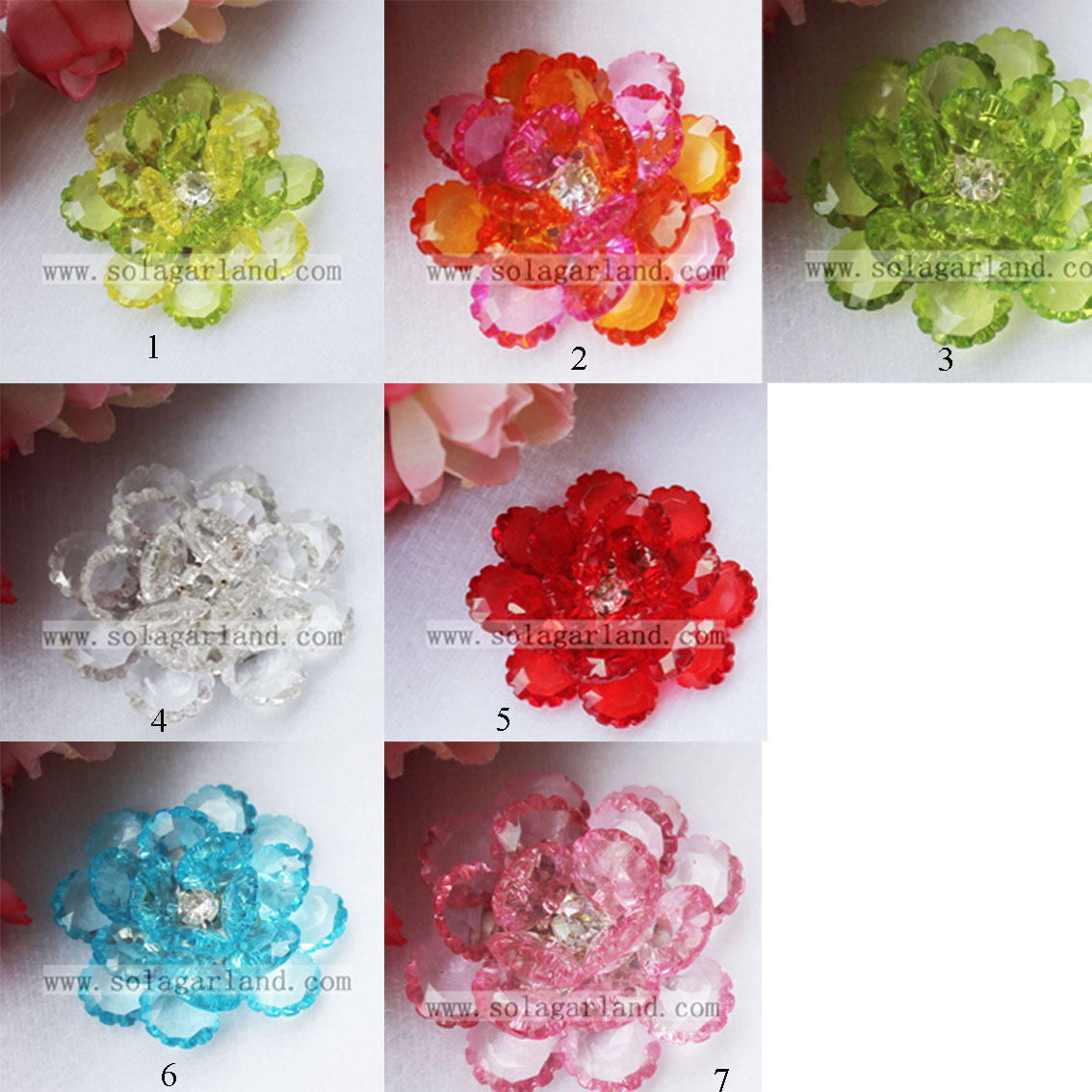 Artificial Beading Decorative Flowers