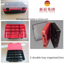 Clear Lid, Red Interlayer and Black Bottom Storage Box