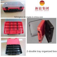 Прозрачной крышкой, красный прослойки и черный нижний ящик для хранения