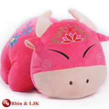 custom promotional lovely pink cow plush toys