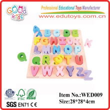 2015 good wood educational wooden chunky alphabet puzzles toy