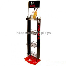 Brand Name Metal 4-Layer Floor Standing Grocery Store Retail Fixtures Liquor Store Beer Display