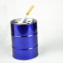 Nuevo diseño chino caliente de la fábrica directamente venta caja de la lata, cenicero redondo de metal
