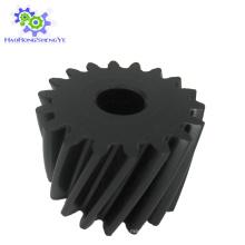 Engrenage hélicoïdal noir / plastique en nylon