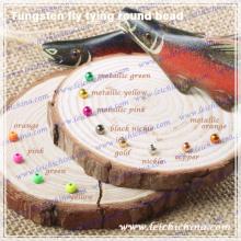 Mosca de tungsteno de pesca con mosca atado de cuentas redondas