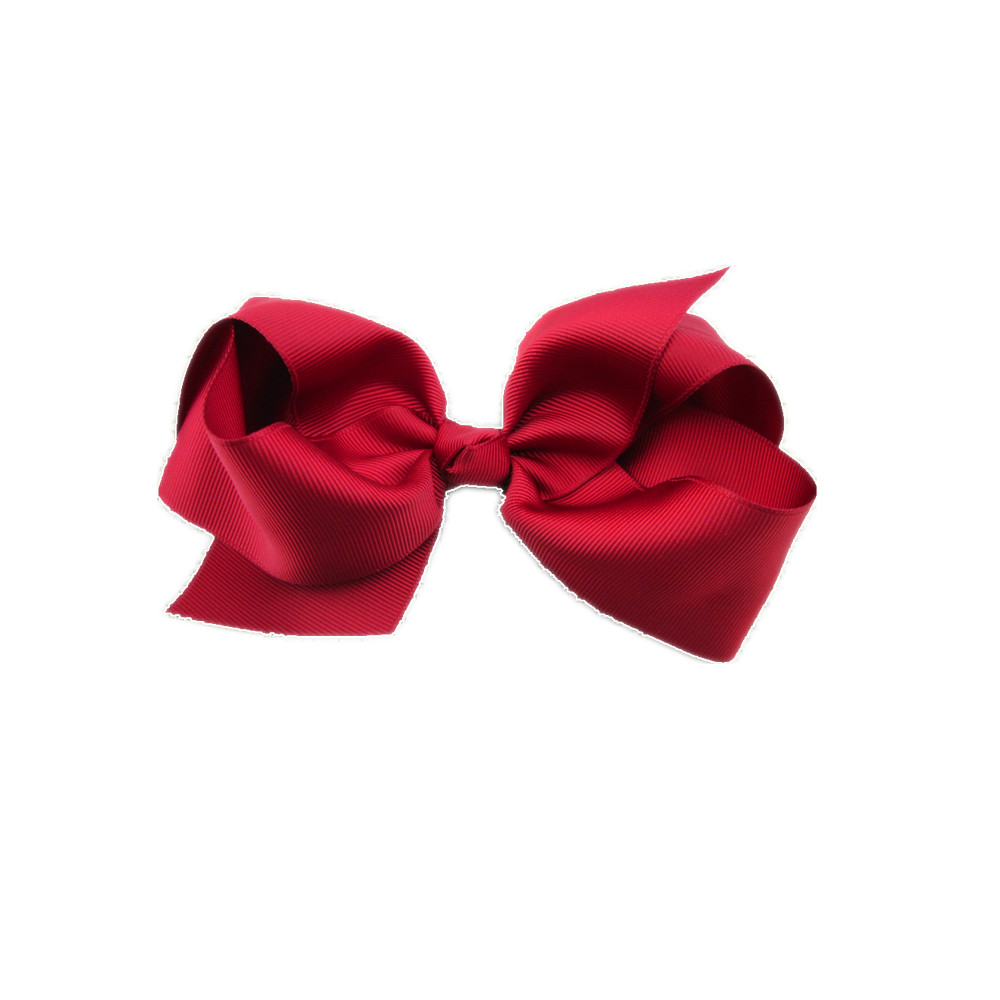 deep red ribbon bow