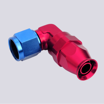90 angle Forged Swivel Ptfe Hose adapter