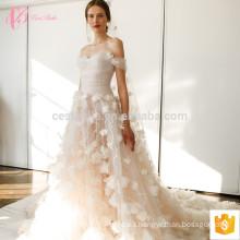 Vestido de boda largo de la sirena del vestido de bola del nuevo diseño del hombro de lujo apagado-hombro