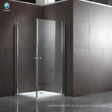 Novo design Quarto de banho 304 aço inoxidável Dobradiça quadrada Quarto de banho em canto