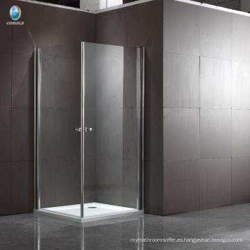 Cuarto de ducha de la esquina de la bisagra cuadrada del acero inoxidable de la sala de ducha del nuevo diseño 304
