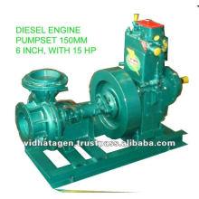 Pompe à eau motorisée à moteur diesel avec hp