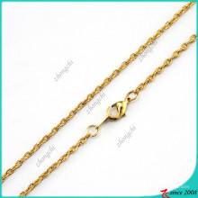 Caliente vendiendo joyas collar de cadena de oro (fn16040839)