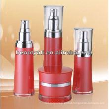 Round cintura cosméticos airless garrafa 30ml 50ml com bomba de loção
