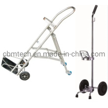 Chormed Steel Trolleys for Carrying O2 Gas Cylinders
