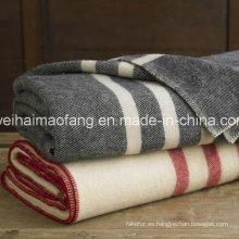 Tejido manta del ejército militar de lana 100% pura lana